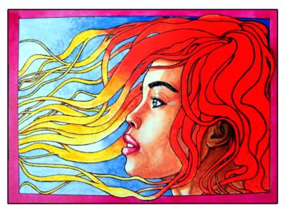 Girl with spaghetti hair-small