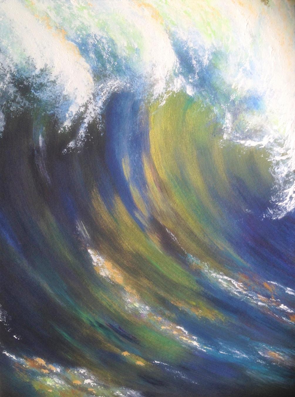 Golden Wave Aug 19 12x15 £190
