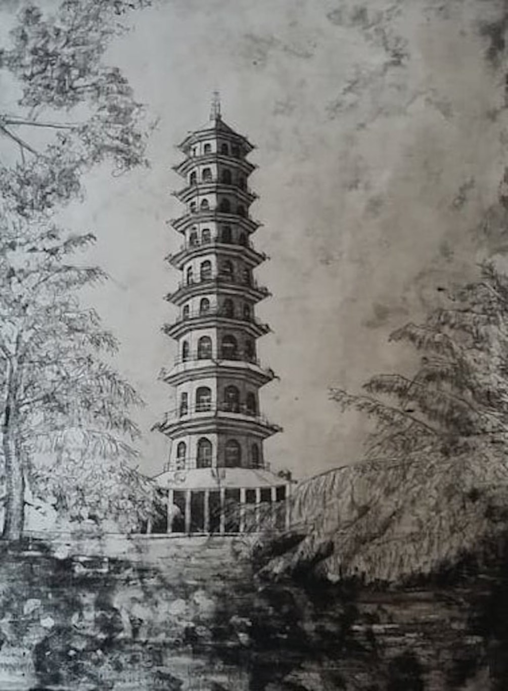 Great Pagoda etching