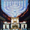 Hanukkah, by Ghenadie Sontu, oil on canvas, 2020