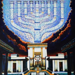 Hanukkah, by Ghenadie Sontu, oil on canvas, 2020
