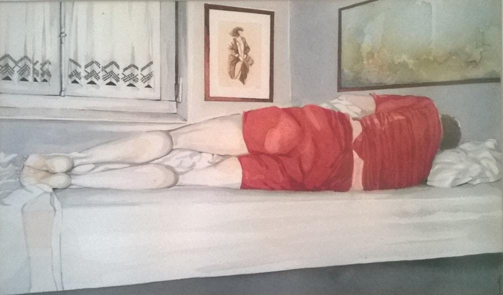 Homem deitado