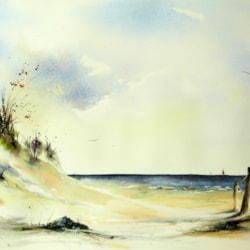 I know a place, watercolour by Graham Kemp.