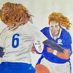 Italy v Scotland woman