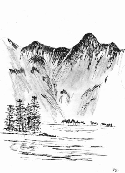 January Sketch (Buttermere)