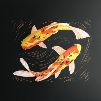 Koi dance by Margaret Mallows