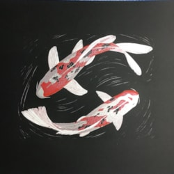 Koi dance silver by Margaret Mallows