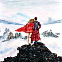 LOVERS ABOVE THE SEA OF FOG BY CH
