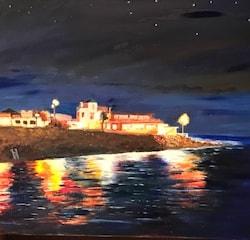 La Caleta by night