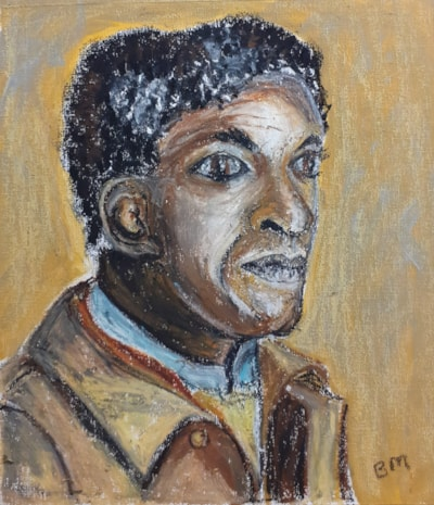 Lemn Sissay Portrait - Mixed Media (Oil Pastel and Acrylic) on Canvas Paper