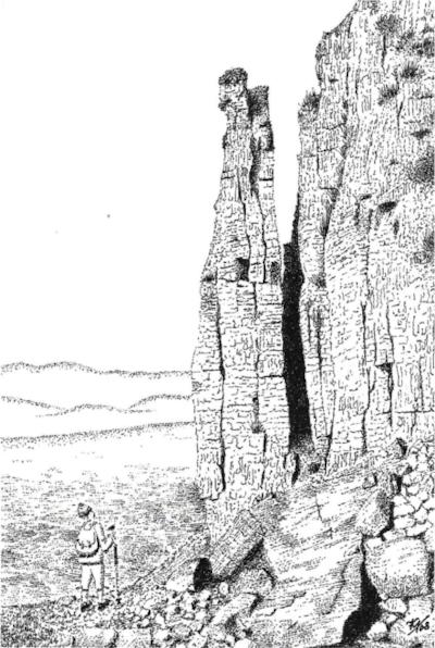 Limestone pinnacle, Penyghent