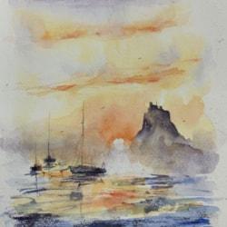 Lindisfarne at dawn