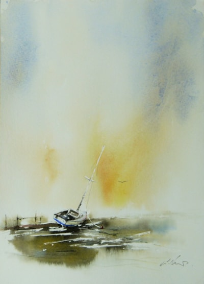 Lost and Found, watercolour by Graham Kemp