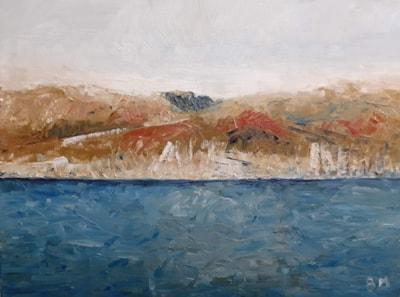 Lundy - Oil on canvas board - 5th Dec 2020
