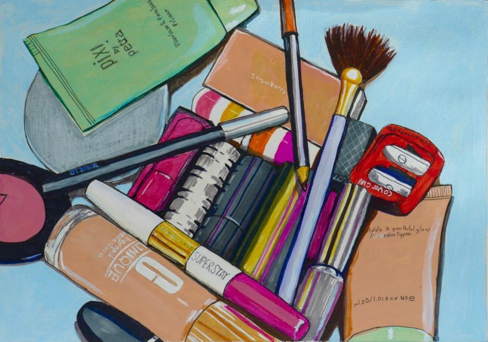 Makeup painting.