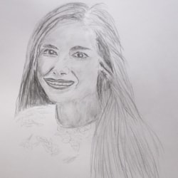 Mary Pencil Drawing 750px