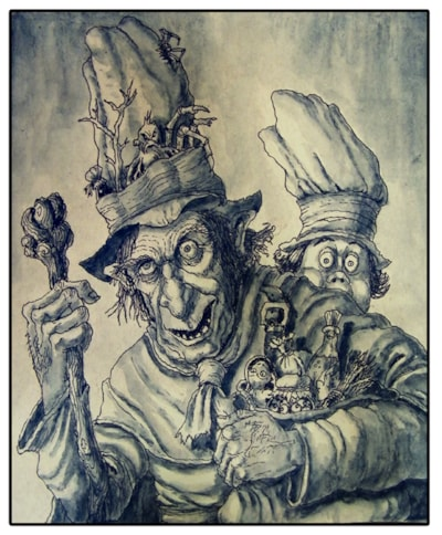 Medieval 'Eye of Toad' salesman