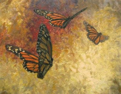 Monarch Study, 11x14, oil on canvas 466 x 600