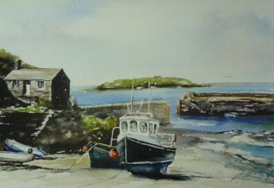 Mullion, Cornwall. watercolour by Graham Kemp.