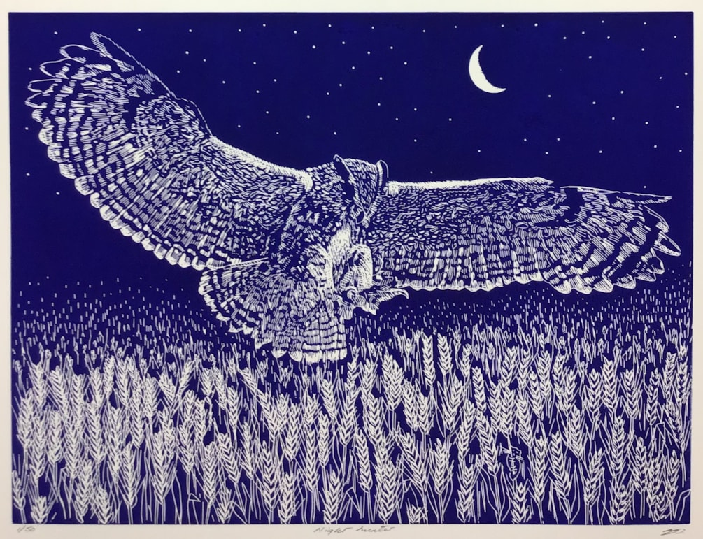 Night hunter (midnight blue) by Margaret Mallows