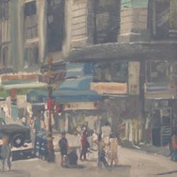 Noon, Downtown Street Corner, Manhattan