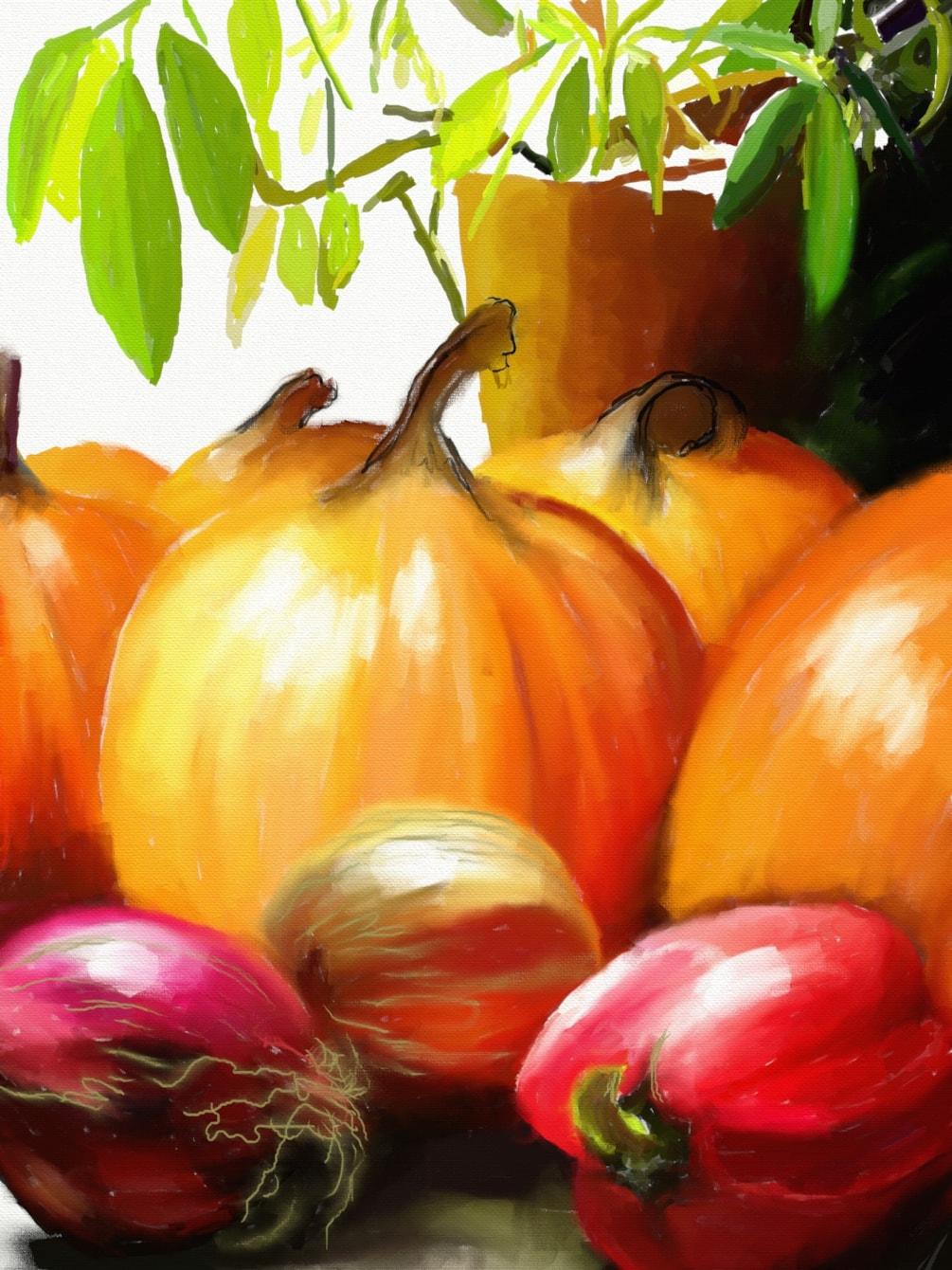 Onions & Pumpkins (9x12,150)