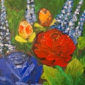 Palette practice, roses.
