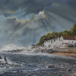 Parting Storm - oil painting - 2020