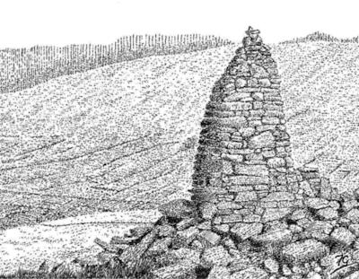 Pike, Whernside, overlooking Dentdale