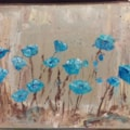 Poppies on Wood