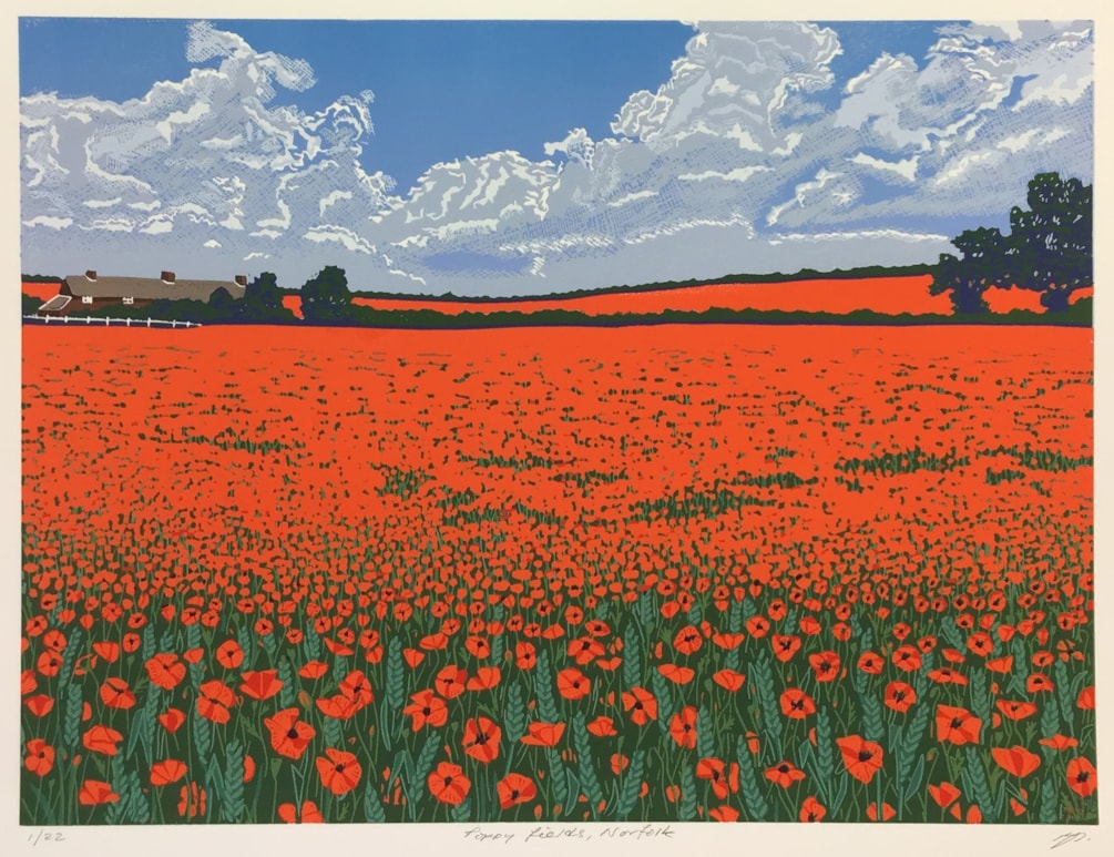 Poppy fields, Norfolk by Margaret Mallows