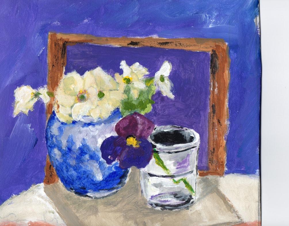 Primroses in blue