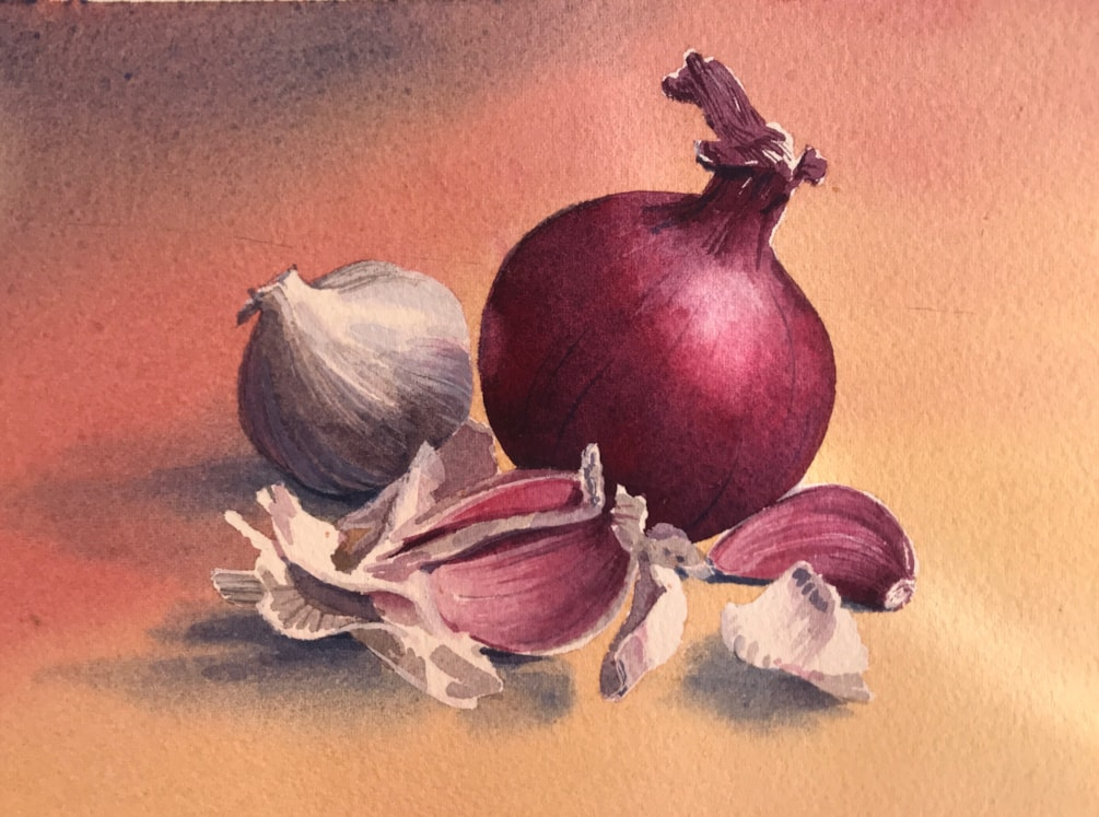 Red Onion with Garlic