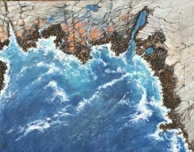 Rocky coastline - 28 x 36