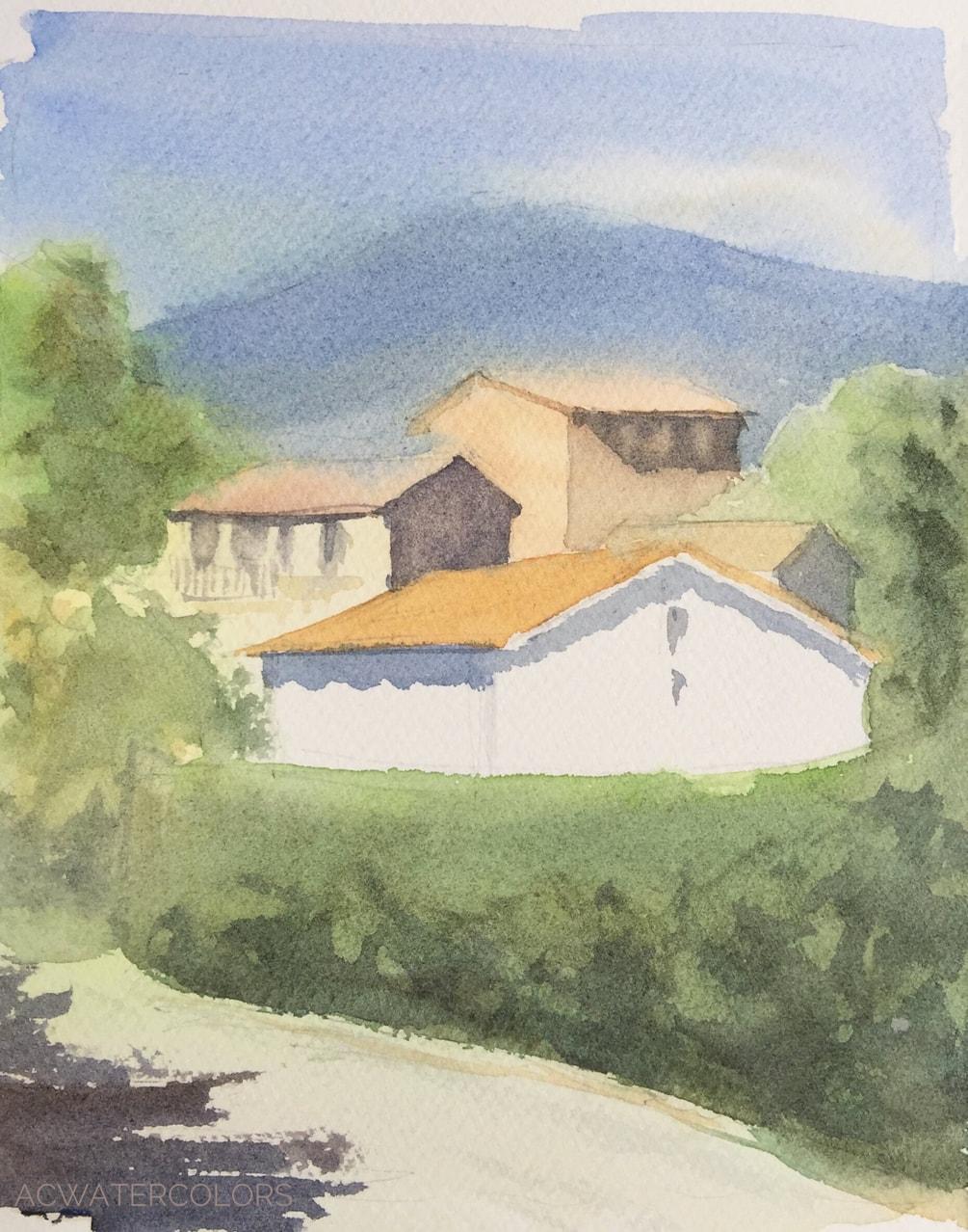 Roquefort, Chemin des terres blanches
