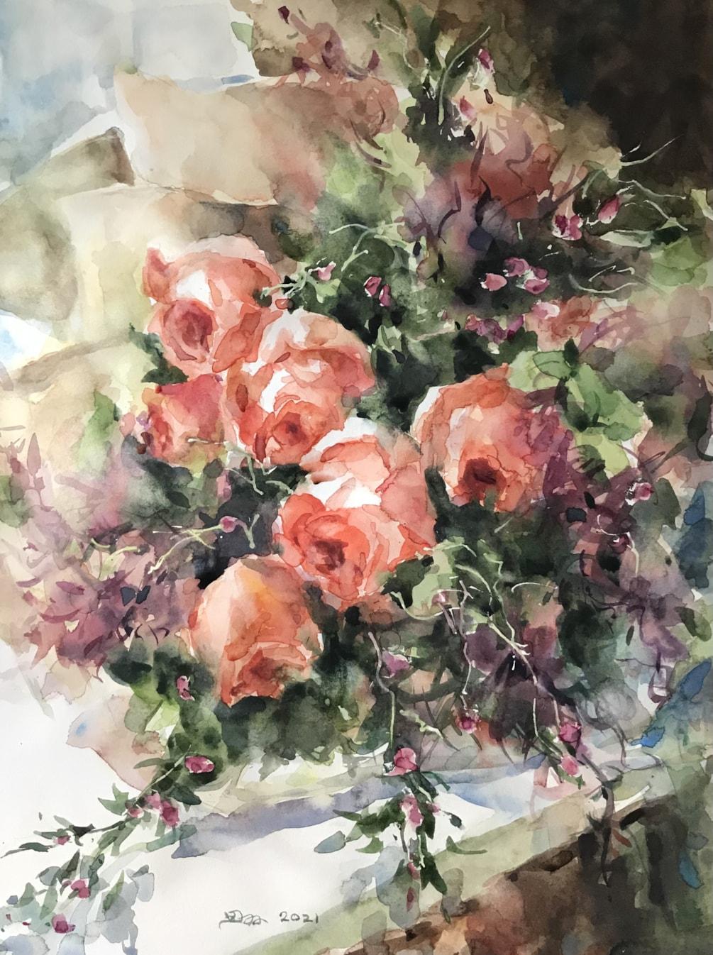 Roses and Smoke Tree