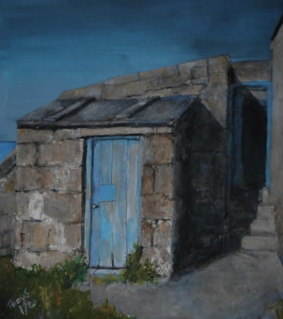 STORE WITH A BLUE DOOR