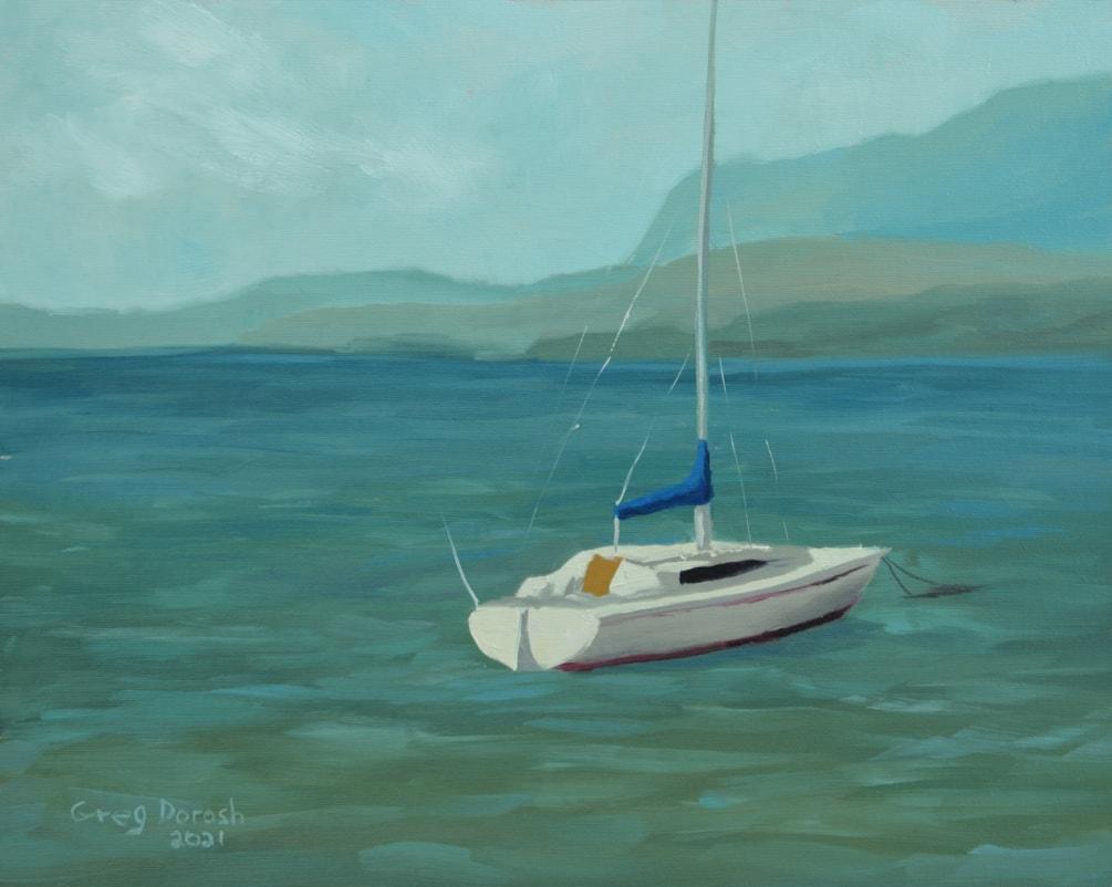 Sailing at Magog Beach-Small