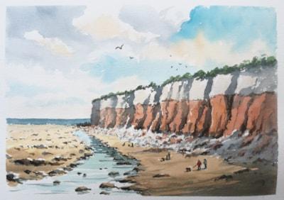 Sand Stone Cliffs, Hunstanton