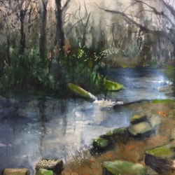 Sefton Park III 10x8ins watercolour