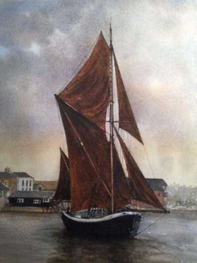 Sepia barge
