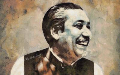 Sheikh Mujibur Rahman - The Legend of Bangladesh by Artist Md Saidul Islam