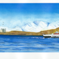 Snow on Mull with Lismore Ferry