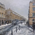 Snowy day, Bath