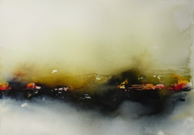 Somewhare, Nowhere. Watercolour by Graham Kemp.