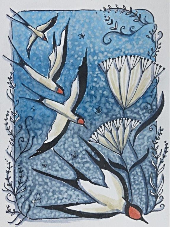 Spring swallows