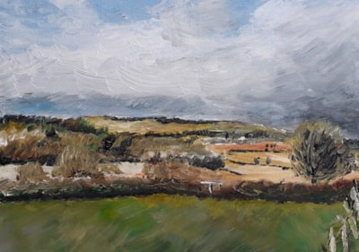 Storm Over Clee Hill - April 2020 - Acrylic