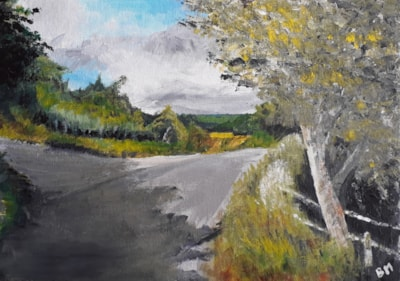 Summer at Whatmore - Acrylic on Board - Aug 22nd 2020