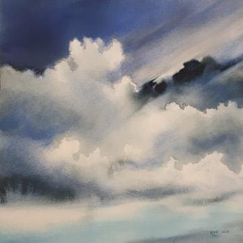 Sunlit Cumulus Clouds IV