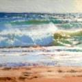 Sunny day beach break Whitsand bay 10x8